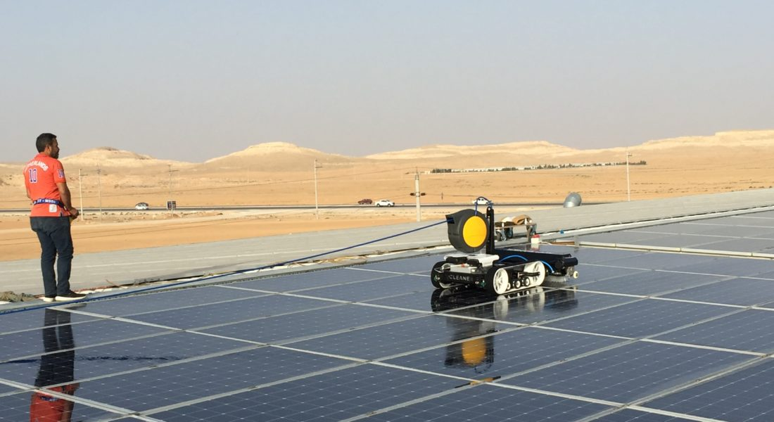 Robot For Solar Panel Cleaning
