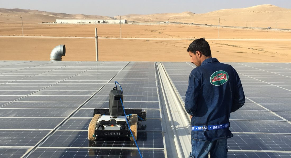 Cleaning Robot For Solar Panels